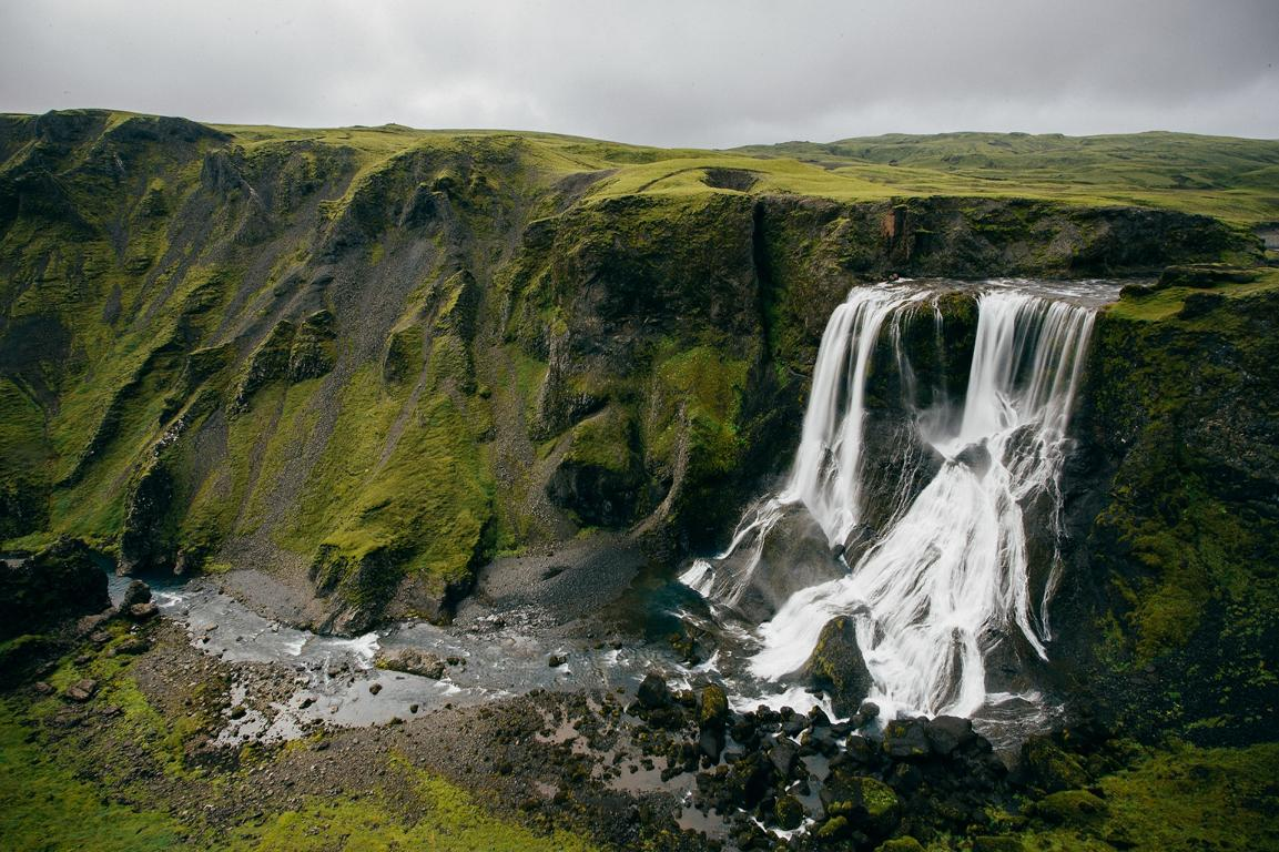 Wasserfall als Symbol für Grundlagen